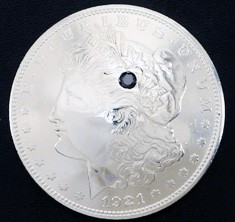 Stone Inlaid Old Morgan Dollar (1 stone)