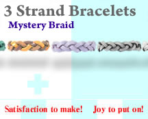 Mystery Braid Leather Bracelet Kit - 3 Strands