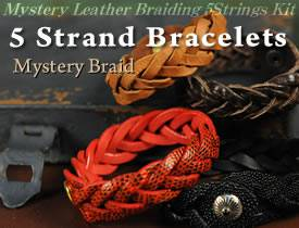 Mystery Braid Leather Bracelet Kit - 5 Strands