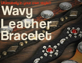 Wavy Leather Bracelet Kit