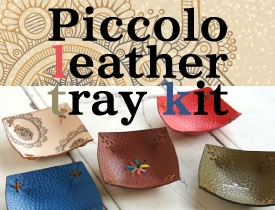 Piccolo leather tray kit