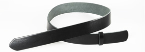 Leather Glazed Tochigi Belts Black