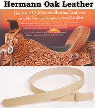 Hermann Oak Tooling Leather Belts