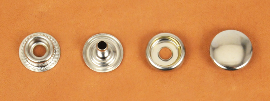 (J10) Brass Snap Fastener (LONG POST) - Nickel Plating - Large