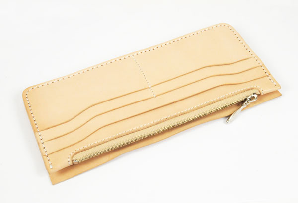 LC Long Wallet Semi Assembled Inner Parts with Zipper - Leather side Glazed Himeji