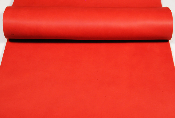 Leather cut in 60cm width, LC Premium Dyed Leather Struck Through <Red>(68 sq dm)