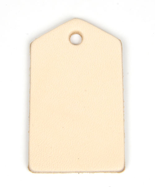 Leather Tag (Home Plate) - LC Tooling Leather Standard