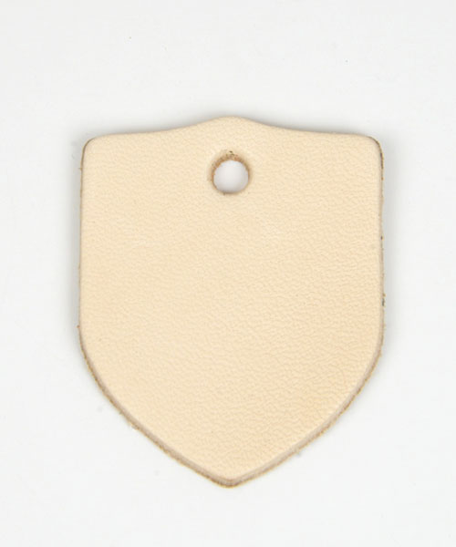 Leather Tag (Shield) - LC Tooling Leather Standard