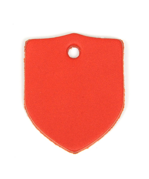 Leather Tag (Shield) - Various Color Leather
