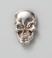 Skull Concho Screw Back
