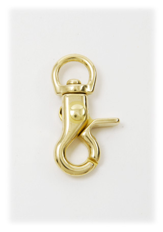 Brass Swivel Snap Hook 10 mm Brass