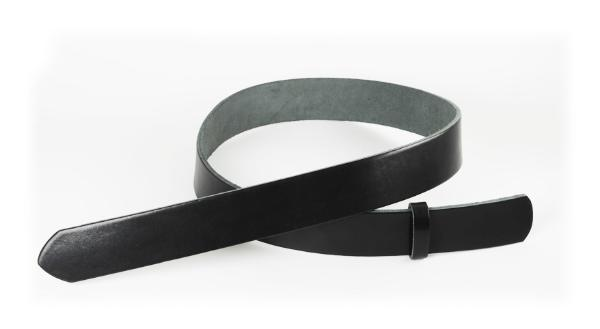 Leather Glazed Tochigi Belt Blanks Black H105cm x W2.5cm