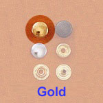 Snap Fastener - Brass Plating - Small