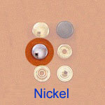 Snap Fastener - Nickel  - Small