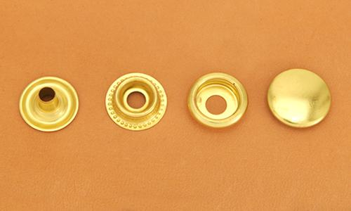 (J4) Brass Snap Fastener - Solid Brass High Luster - Large