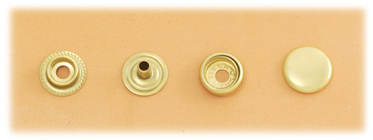 (J7) Brass Snap Fastener (LONG POST) - Solid Brass High Luster - Small