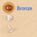 Domed Rivet 7mm Bronze