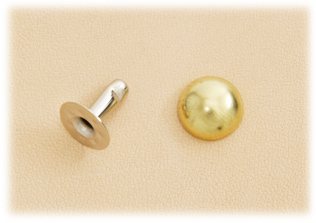 Domed Rivet 9mm Brass