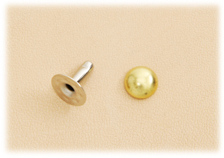 Domed Rivet 7mm Brass