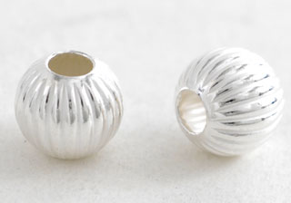 Silver Beads - Shell Shape