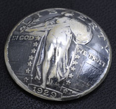 Old Standing Liberty Quarter Matte Finish <Screw Back>