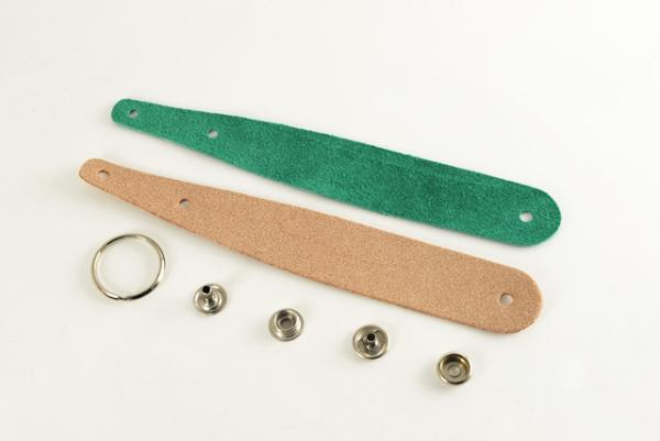 Excel Leather Key Fob Kit - Round Head