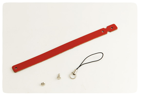 Leather Strap Loop Type -  Pigmented Leather