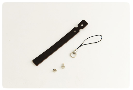 Cell Phone Strap - LC Leather Glazed Standard