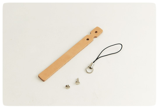 Cell Phone Strap - Tooling Leather Himeji