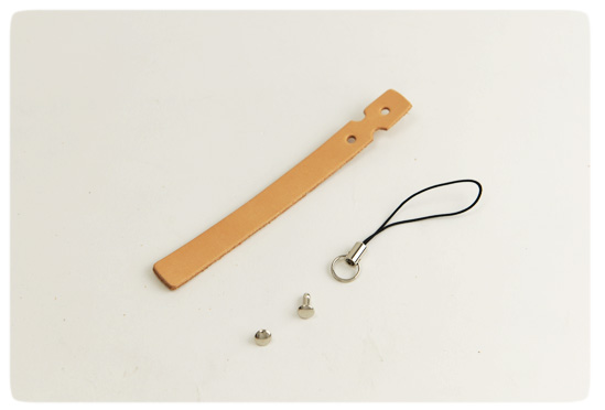 Cell Phone Strap - Hermann Oak Tooling Leather