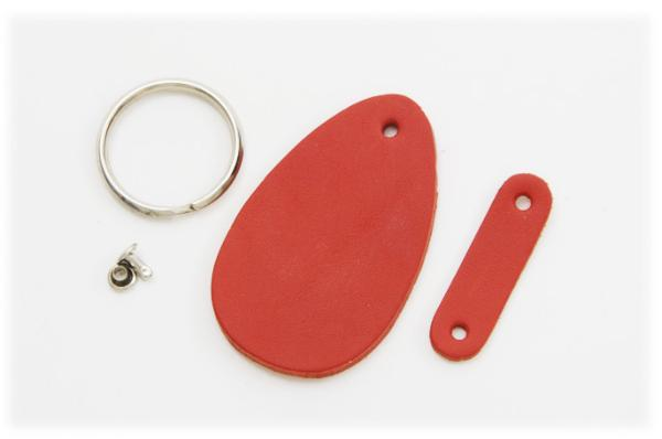Key Holder Kit<Drop Type>LC Premium Dyed Leather Struck Through