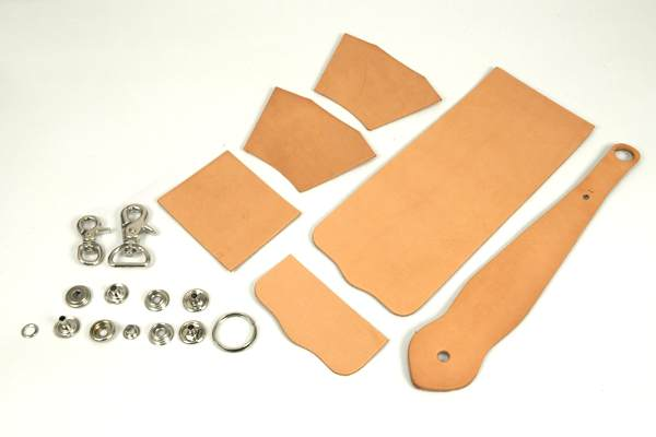 Key Fob Coincase Kit - Hermann Oak Tooling Leather