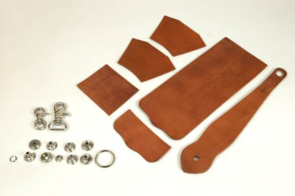 Key Fob Coincase Kit - Hermann Oak Harness Leather