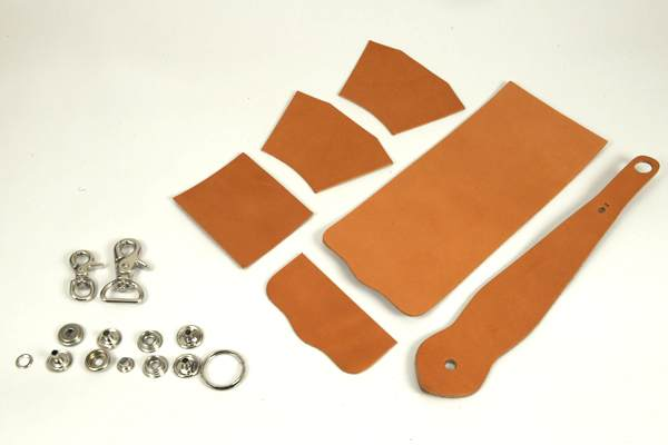 Key Fob Coincase Kit -  Hermann Oak Bridle Leather