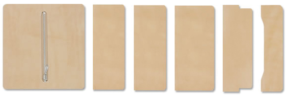 LC Long Wallet Kit - Inner Parts Set 6 pcs