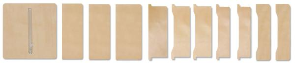 LC Long Wallet Kit - Inner Parts Set 11 pcs (full set)