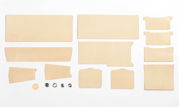 LC Billfold Kit <Outside Purse> - LC Tooling Leather Standard  (Natural)
