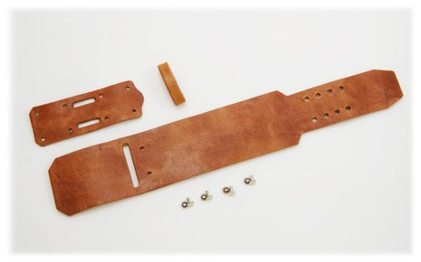 Wristband A2 Kit - Hermann Oak Harness Leather