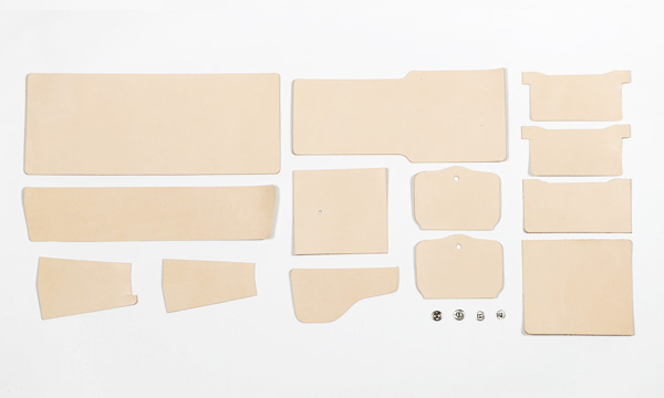 LC Billfold Kit < Inside Purse > - Wallet Strap - LC Tooling Leather Standard ( Natural )