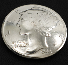 Old Mercury Dime 1916 - 1945 (Obverse) <Loop Back>