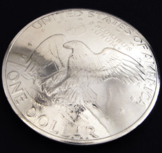 Old Eisenhower Dollar (Reverse) <Loop Back>
