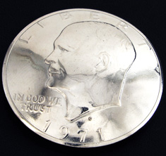 Old Eisenhower Dollar (Obverse) <Loop Back>