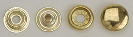Snap Fastener - Brass Plating - Large