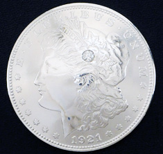 Old Morgan Dollar 1921 Diamond (1 stone)