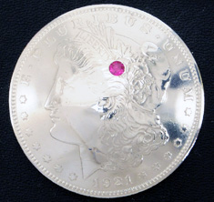 Old Morgan Dollar 1921 Ruby (1 stone)