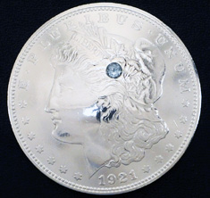 Old Morgan Dollar 1921 Aquamarine (1 stone)