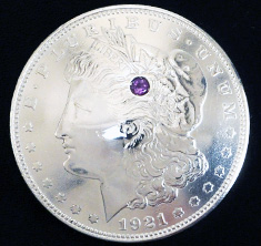 Old Morgan Dollar 1921Amethyst (1 stone)