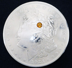 Old Morgan Dollar 1921 Citrine (1 stone)