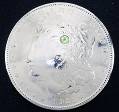 Old Morgan Dollar 1921 Peridot (1 stone)