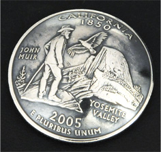 California State Quarter Matte Finish <Screw Back>